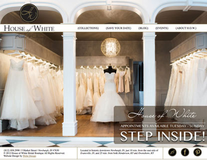 Bridal Boutique Home Page Design