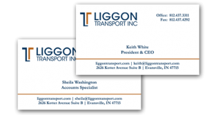 Business Card design for Liggon Trasport