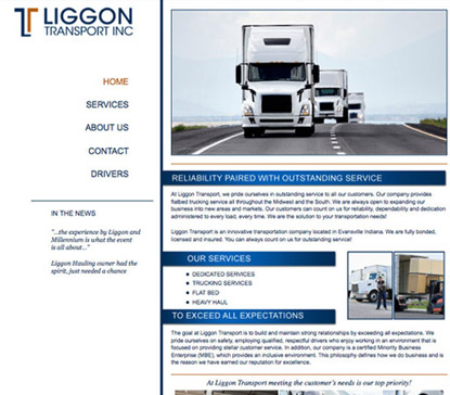 trucking website services