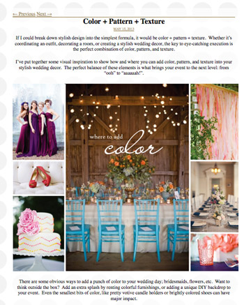 blog design for bridal website