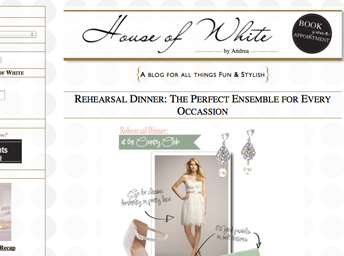 Blog design services featured in bridal website