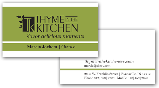 Logo design Evansville kitchen store business card