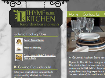 website design evansville kitchen store