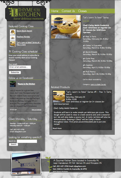 website design evansville class store