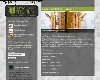 website design evansville home accent store