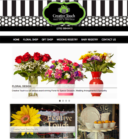 Custome Website Design and developed for Creative Touch F Home pg